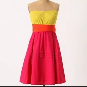 🌸Anthropologie Maeve Parading Hues strapless